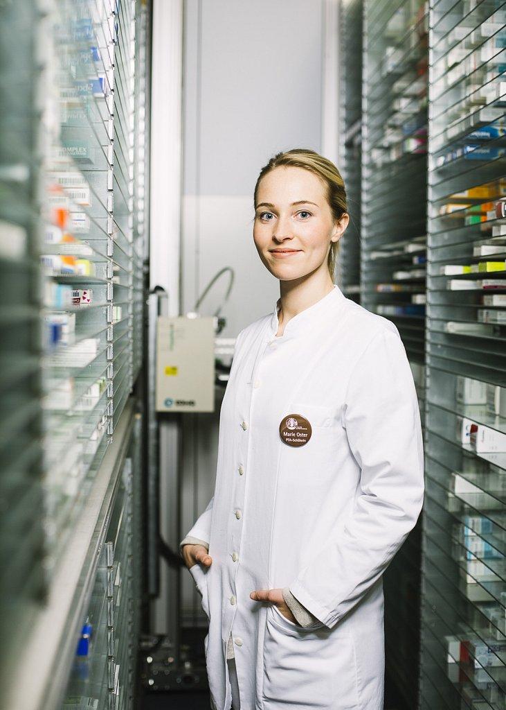 Portrait und Reportage PTA Auszubildende Marie Oster